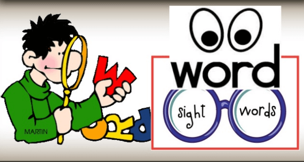 Sight words for teaching reading
